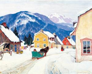 Laurentian Village by Clarence Alphonse Gagnon