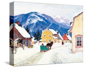 Laurentian Village by Clarence Alphonse Gagnon