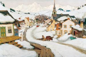 Village in the Laurentians by Clarence Alphonse Gagnon