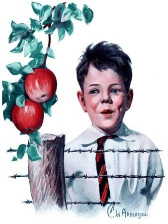 """Boy Tempted by Apples,""October 4, 1924"