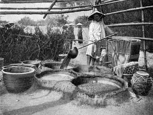 Clarifying Sugar Cane Juce, Annam, Vietnam, 1922