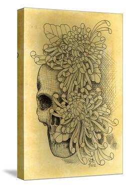 Skull & Mums by Clark North