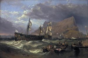 The 'Victory' Towed into Gibraltar, 1854 by Clarkson Stanfield