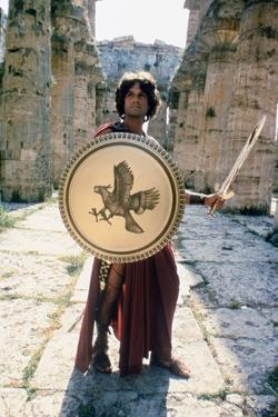 CLASH OF THE TITANS, 1981 directed by DESMOND DAVIS Harry Hamlin is Perseus (photo)