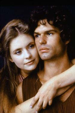 CLASH OF THE TITANS, 1981 directed by DESMOND DAVIS Judi Bowker (Andromeda) and Harry Hamlin (Perse