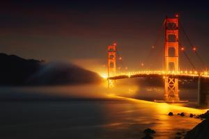 Classic Golden Gate and Approaching Fog, San Francisco