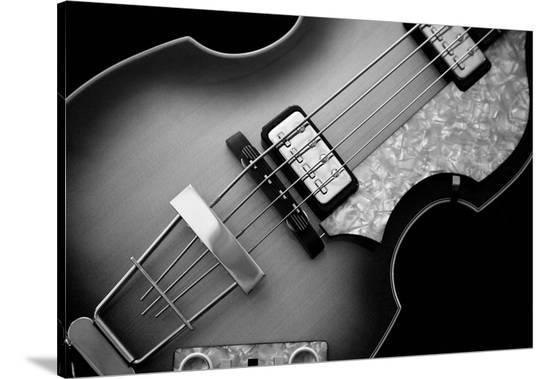 Classic Guitar Detail X-Richard James-Stretched Canvas Print