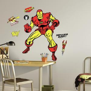 Classic Iron Man Comic Peel and Stick Giant Wall Decals