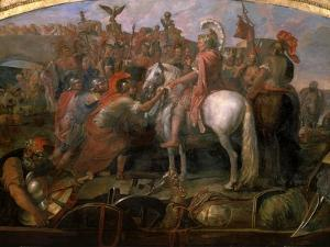Julius Caesar, 100-44 BC Roman general, Sending Roman Colony to Carthage by Claude Audran the Younger