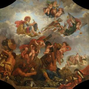 Mars on His Chariot Pulled by Wolves, 1673 by Claude Audran the Younger