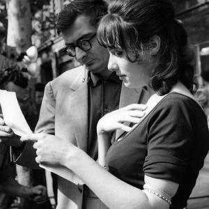 Claude Chabrol and Bernadette Lafont sur le tournage du film Les Godelureaux by ClaudeChabrol, 1961