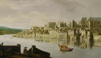 The Thames at Westminster Stairs, C.1630 (Oil on Panel)