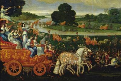Earth, Detail of the Left Carriage with Nine Muses, C.1640-41