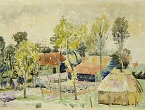 Dutch Farmhouse by Claude Flight