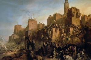 The Capture of Jerusalem by Jacques De Molay in 1299 by Claude Jacquand
