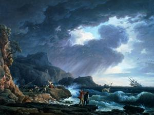 A Seastorm, 1752 by Claude Joseph Vernet