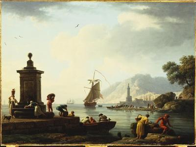A View of the Harbour at Genoa, 1773