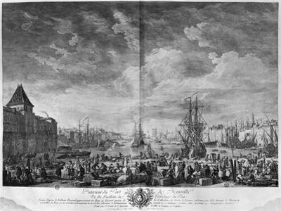 Inner Port of Marseille, Seen from the Pavilion of the Horloge Du Parc by Claude Joseph Vernet