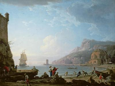 Morning Scene in a Bay, 1752 by Claude Joseph Vernet