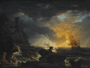 Shipwreck, Second Half of the 18th C by Claude Joseph Vernet