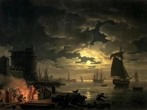 The Harbour of Palermo, 1750 by Claude Joseph Vernet