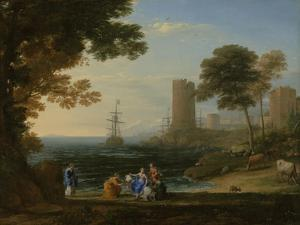 Coast View with the Abduction of Europa, c.1645 by Claude Lorrain