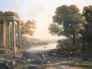 A Pastoral Landscape with Ruined Temple, C.1638 by Claude Lorraine