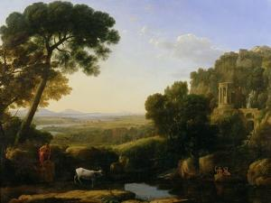 A Sunset or Landscape with Argus Guarding Io by Claude Lorraine