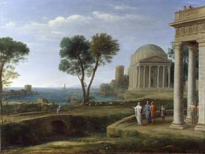 Aeneas in Delos by Claude Lorraine