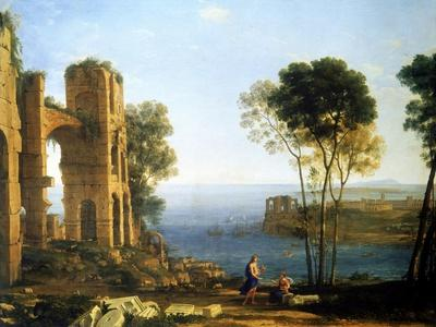 Coast View with Apollo and the Cumaean Sibyl, Between 1645 and 1649