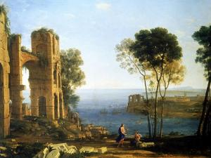 Coast View with Apollo and the Cumaean Sibyl, Between 1645 and 1649 by Claude Lorraine