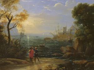 Coastal Landscape at Sunset by Claude Lorraine