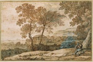 Landscape with a Shepherd and His Dog by Claude Lorraine