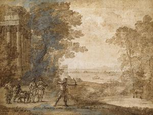 Landscape with Ascanius Shooting the Stag of Sylvia by Claude Lorraine