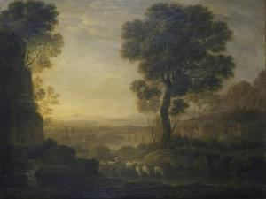 Landscape with Flock of Sheep at the River, 17th C by Claude Lorraine