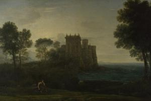 Landscape with Psyche Outside the Palace of Cupid (The Enchanted Castle), 1664 by Claude Lorraine