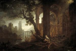 Landscape with the Temptation of Saint Anthony by Claude Lorraine