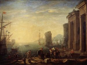 Morning in the Harbour, 1630S by Claude Lorraine