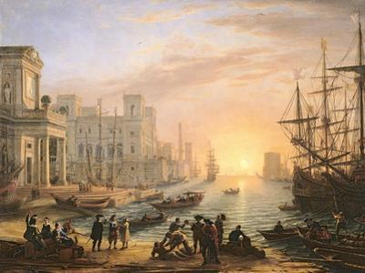 Sea Port at Sunset, 1639 by Claude Lorraine