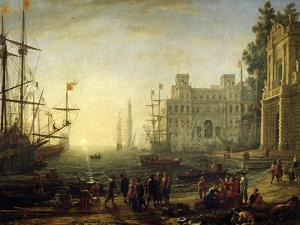 Seaport with Villa Medici by Claude Lorraine