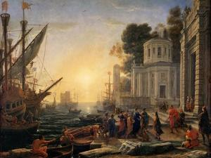 The Disembarkation of Cleopatra at Tarsus by Claude Lorraine