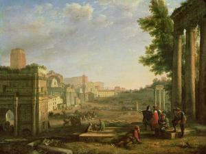 View of the Campo Vaccino, Rome by Claude Lorraine