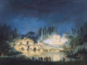 Illumination of the Belvedere at the Petit-Trianon, 1781 by Claude Louis Chatelet