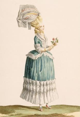 Caraco a La Polanaise, Engraved by Dupin, from 'Galeries Des Modes Et Costumes Francais', C.1778-87 by Claude Louis Desrais