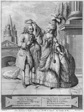 Voltaire Crowned by Mademoiselle Clairon, Engraved by Jean Victor (B.1718) 1791 (Engraving) by Claude Louis Desrais