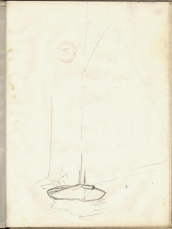 A Clipper of Argenteuil (Pencil on Paper) by Claude Monet