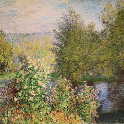 A Corner of the Garden at Montgeron, 1876-7 by Claude Monet
