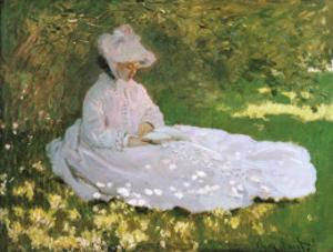 A Woman Reading by Claude Monet