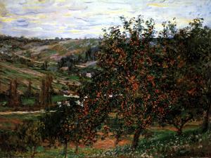 Apple Trees in Bloom at Vetheuil, c.1887 by Claude Monet