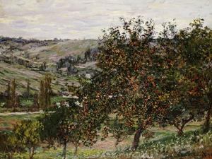 Apple Trees Near Vetheuil by Claude Monet